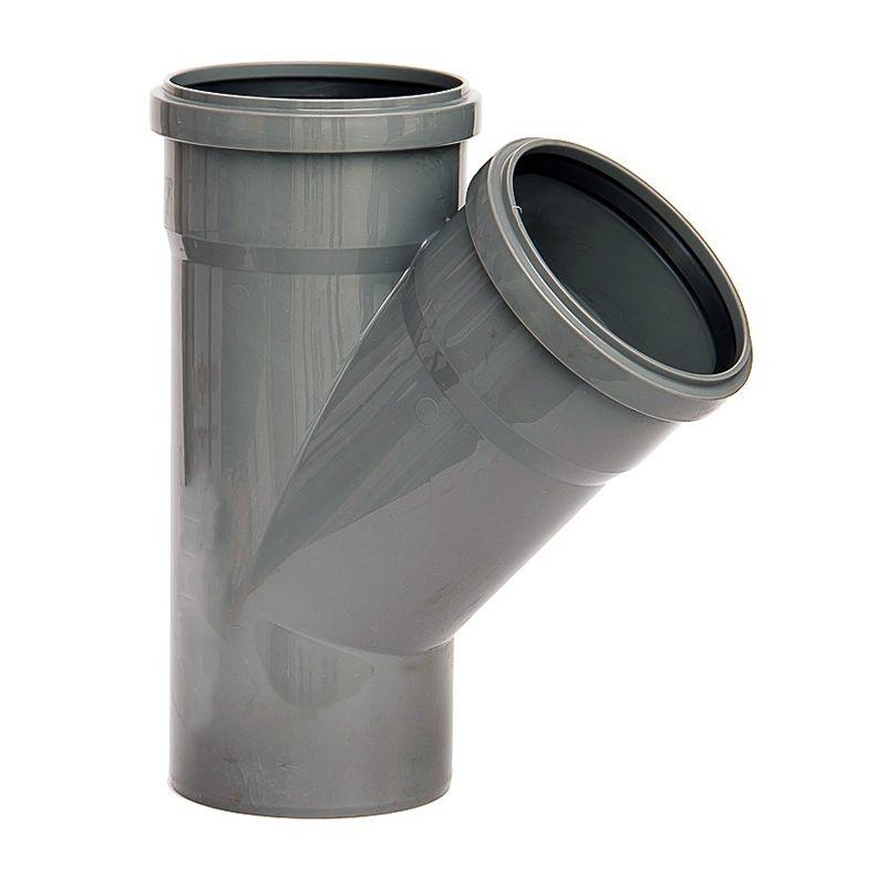 Тройник канализационный 110х110х45 гр