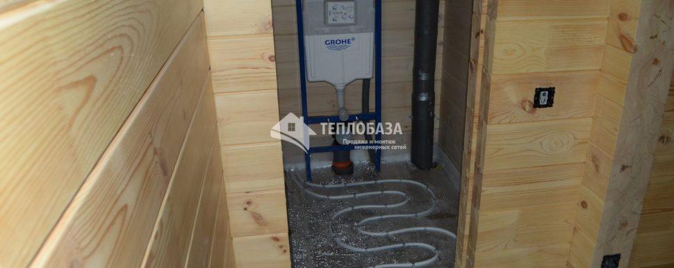 инсталяция в деревянном дом