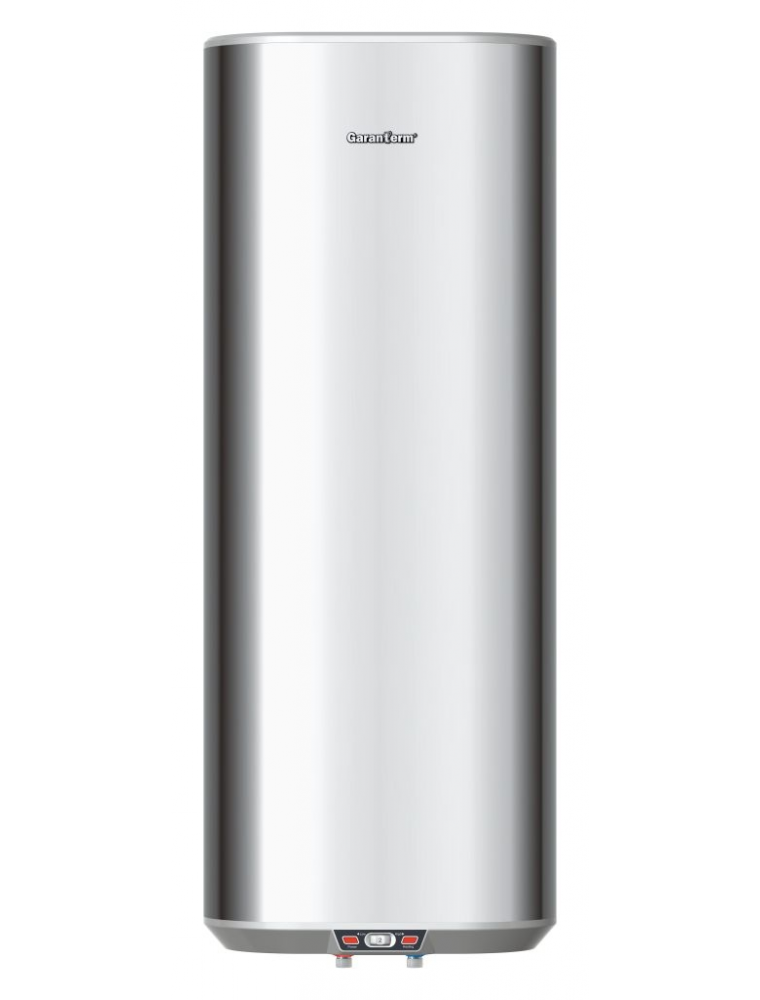 Водонагреватель вертикальный, плоский  бак из нержавеющей стали, GARANTERM  GTI 100 V 2кВт - фото
