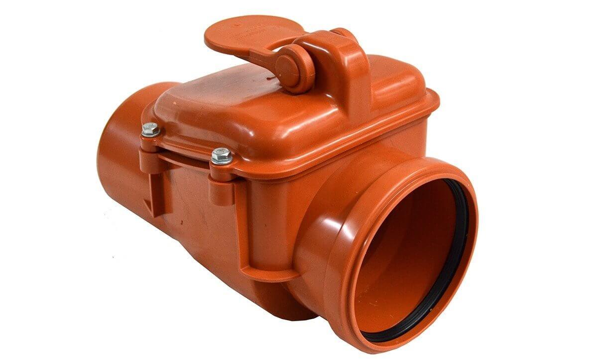 Клапан обратный 110 канализационный