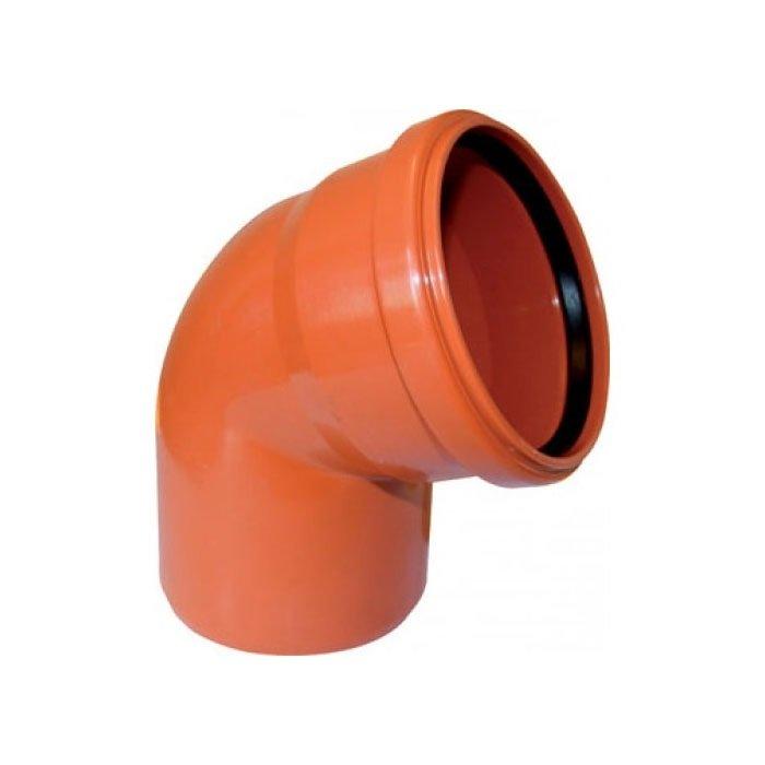Отвод наружный канализационный 110 45° - фото