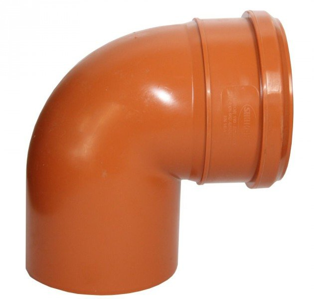 Отвод наружный канализационный 110 87°