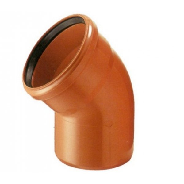 Отвод наружный канализационный 160 45°