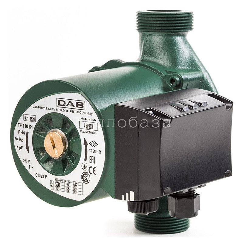 Циркуляционный насос с мокрым ротором для систем отопления DAB A 50/180 M - фото
