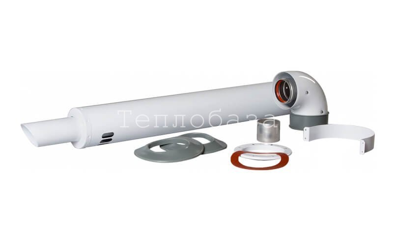 Универсальный коаксиальный комплект для горизонтального прохода через стену Ø60/100 мм. - фото