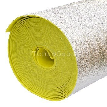 Экофол (Порилекс) НПЭ-ЛП А 5мм./1,2х25м. желтый (Рулон 25 п.м/ 30м2) - фото