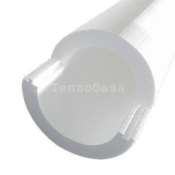 Скорлупа ППС 57 х 50 мм длина 1,5м ( Пенополистирол )
