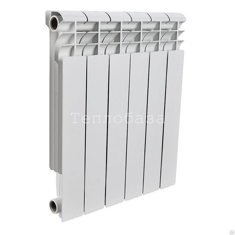 Радиатор биметаллический ROMMER Optima 6 секций - фото