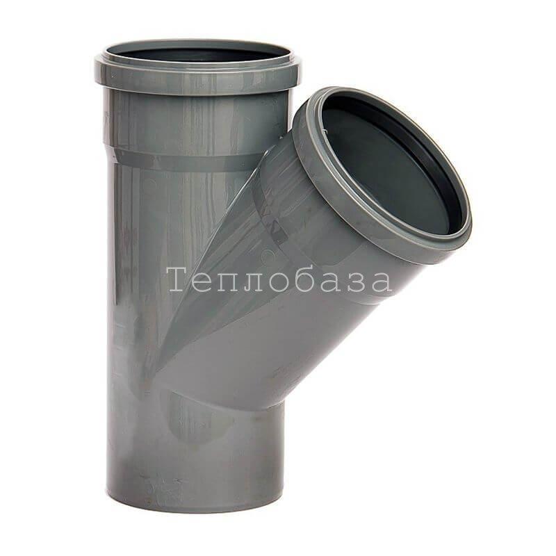 Тройник канализационный 110х110х45 гр.