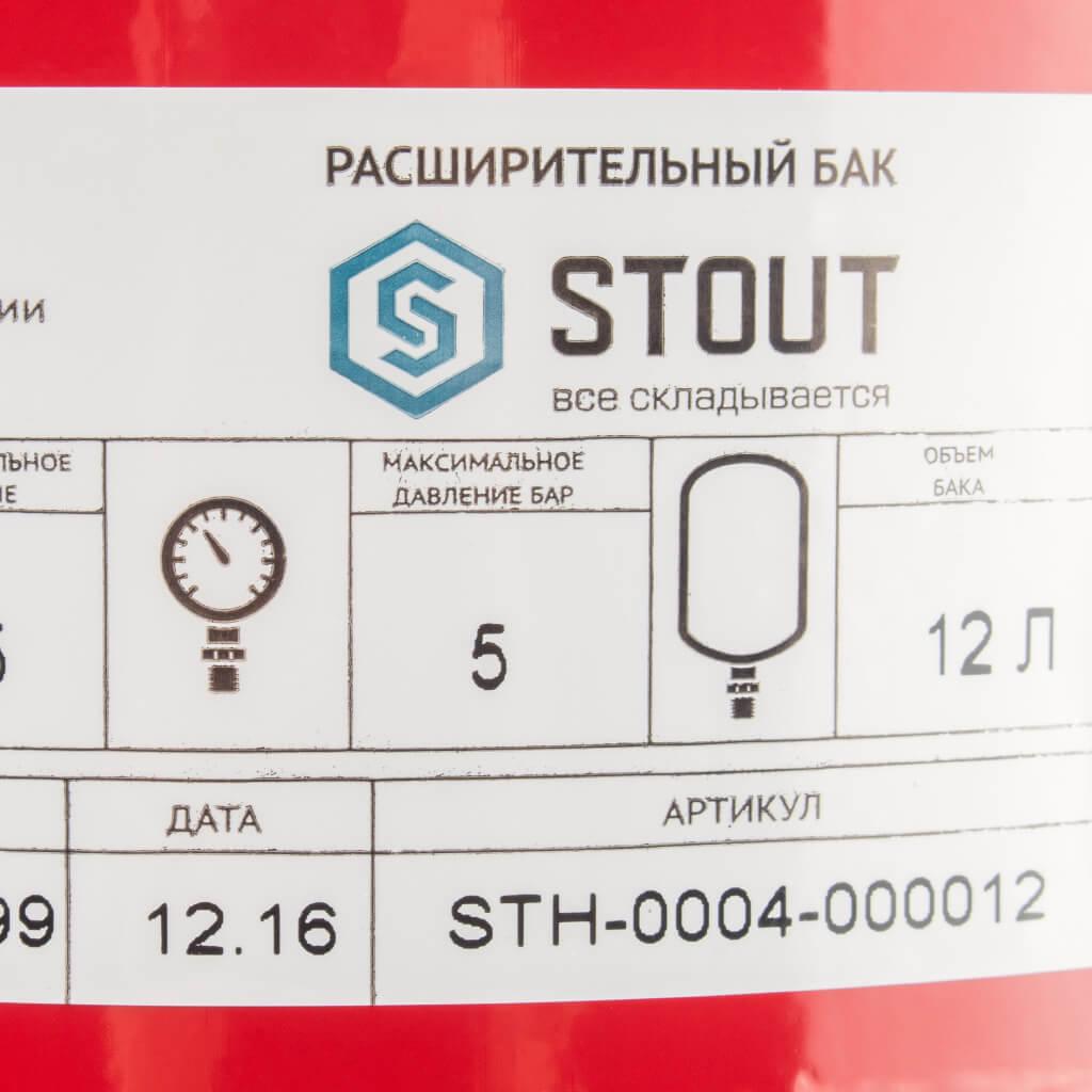 Бак мембранный для отопления 12 литров