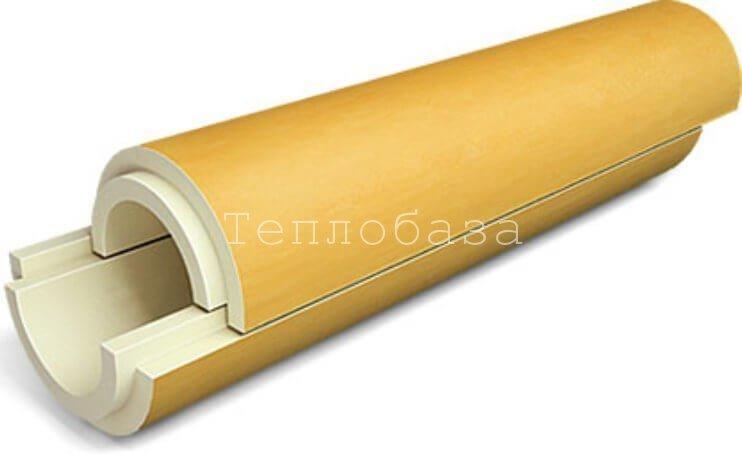 Скорлупы в ППУ изоляции 63*40 (Пенополиуретан без покрытия) - фото