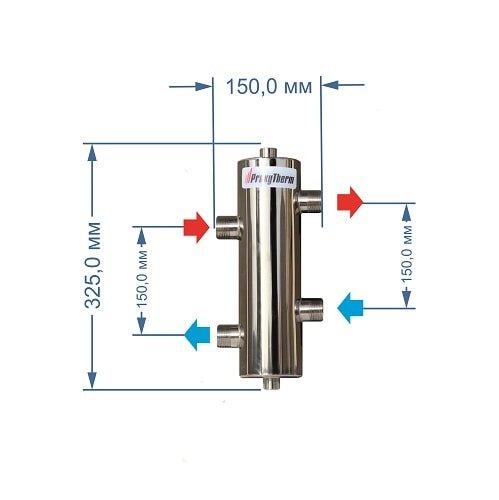 Гидравлический разделитель GS 25, 60 кВт, 1 контур.