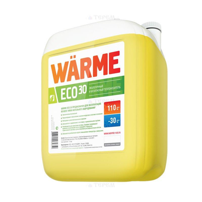 Теплоноситель моноэтиленгликоль Warme Eco -30, канистра 10 кг - фото