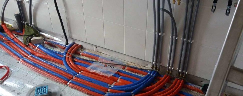 монтаж трубопроводов отопления и водоснабжения