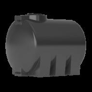 Бак для воды горизонтальный цилиндрический черный АТH 1000 с поплавком
