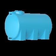 Бак для воды горизонтальный цилиндрический синий АТH с поплавком