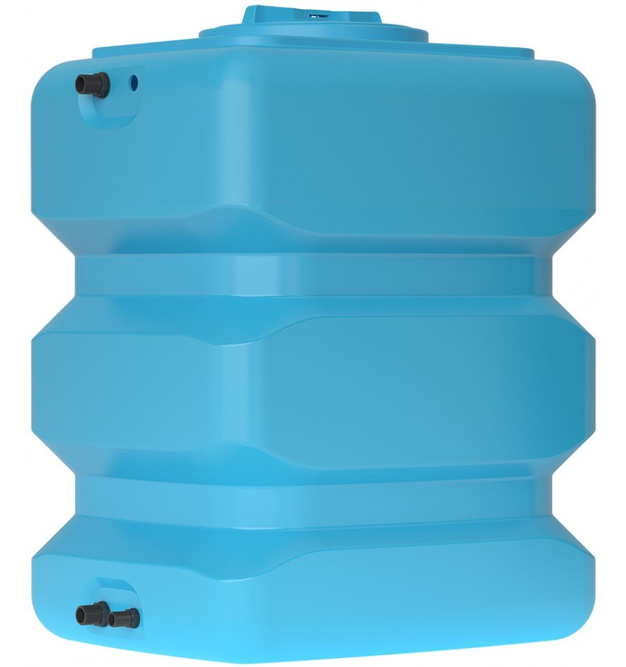 Бак для воды прямоугольный синий АТP 500 с поплавком - фото