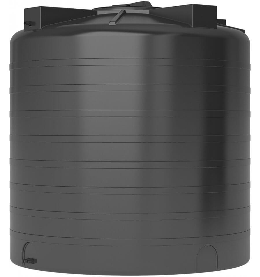 Бак для воды черный ATV 2000 с поплавком - фото