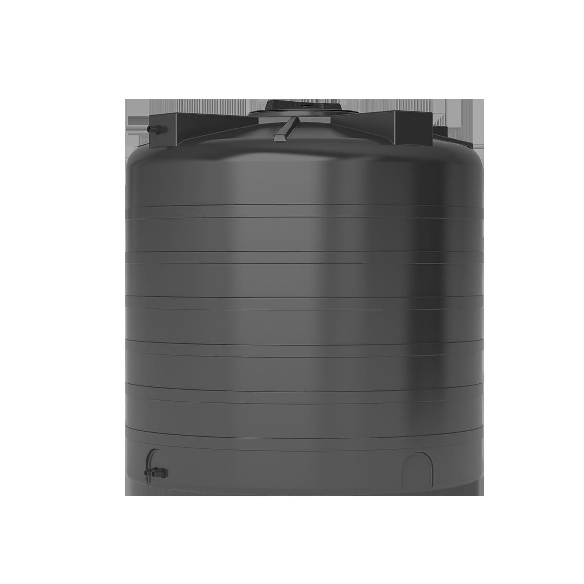 Бак для воды черный ATV 1000 с поплавком - фото