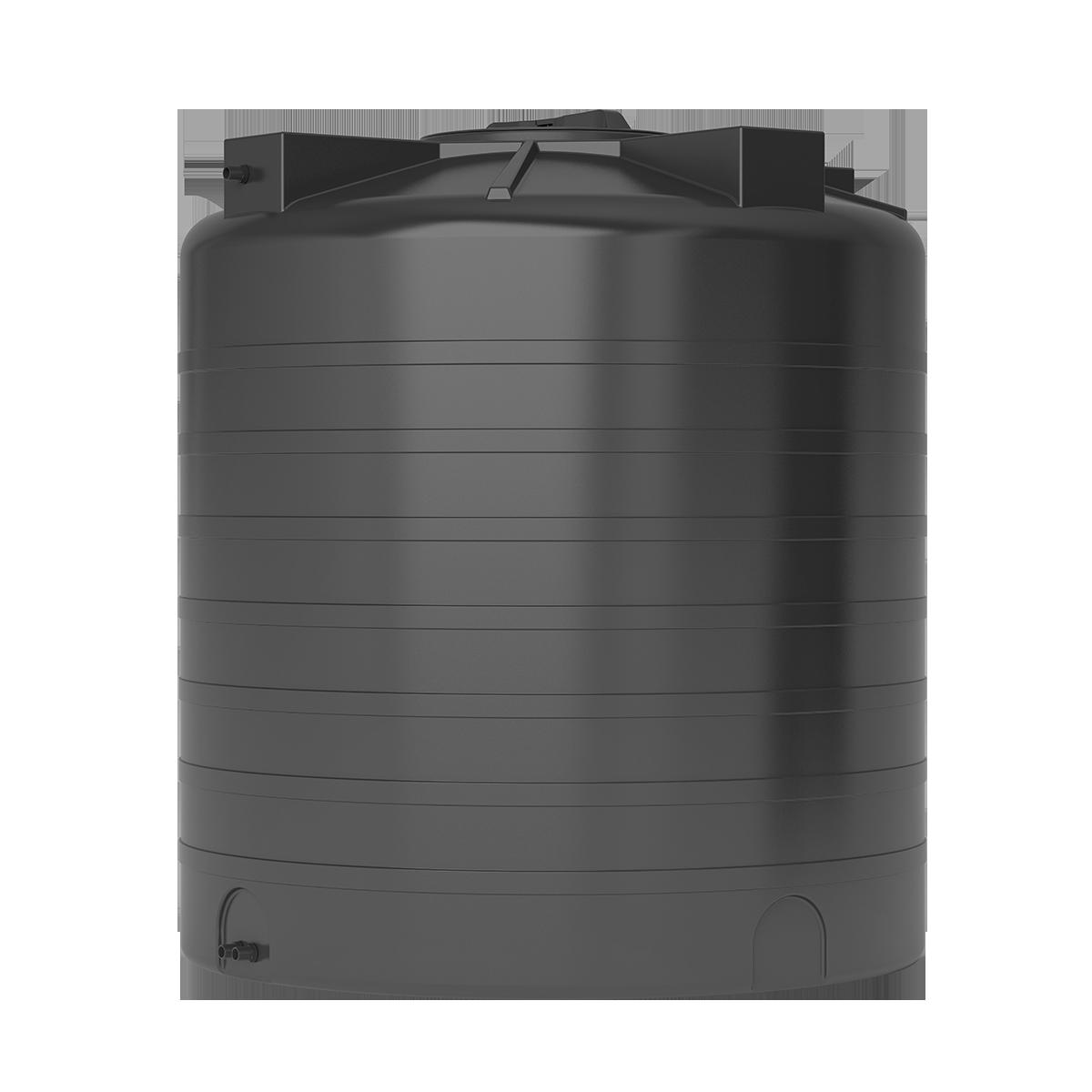 Бак для воды черный ATV 1500 с поплавком - фото