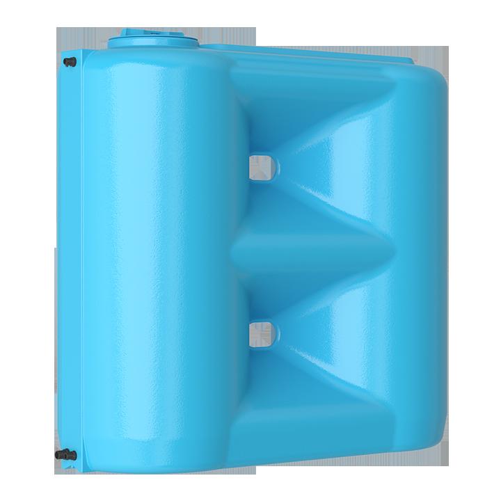 Бак для воды прямоугольный синий Combi BW 1500 с поплавком