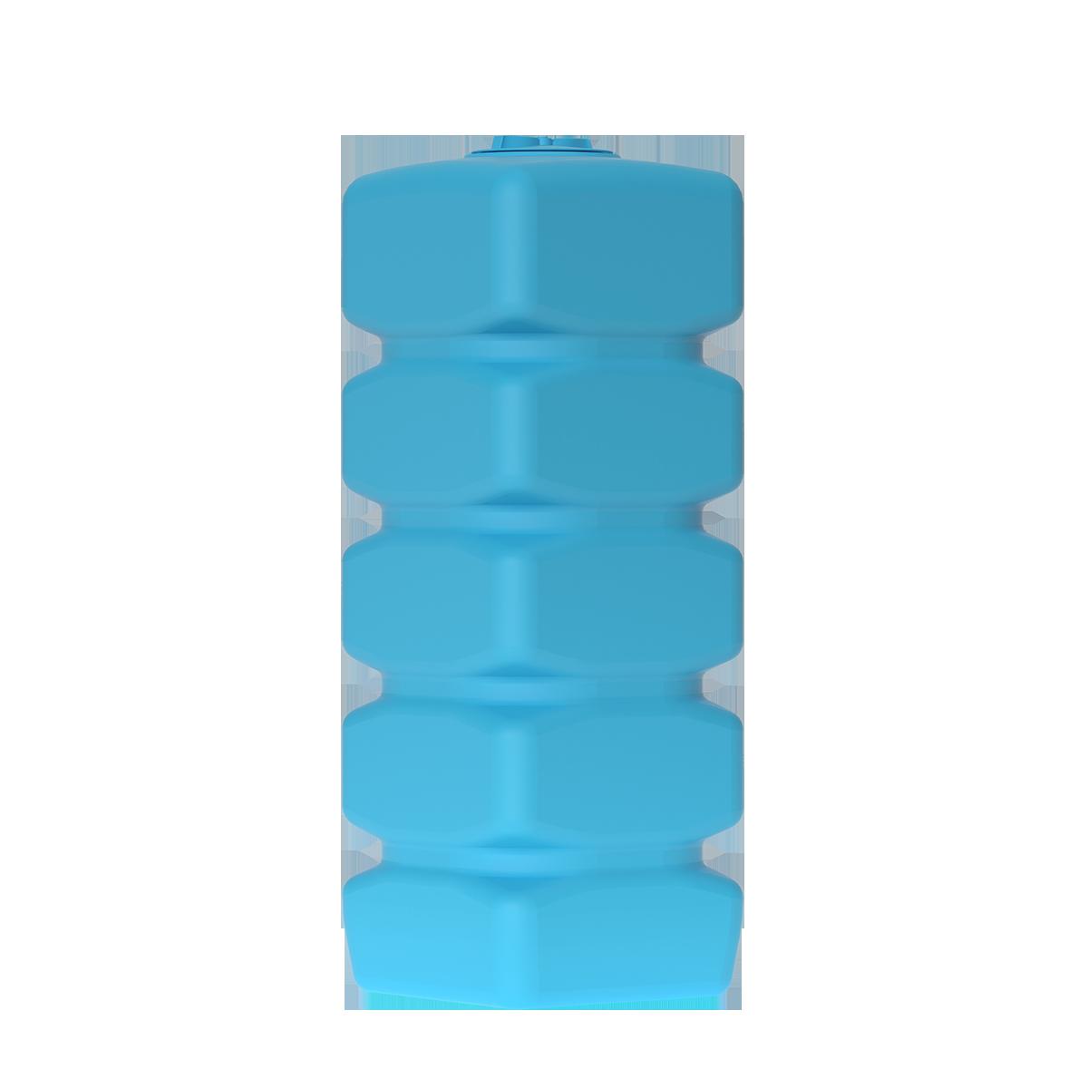 Бак для воды прямоугольный синий Quadro W 1500 с поплавком - фото