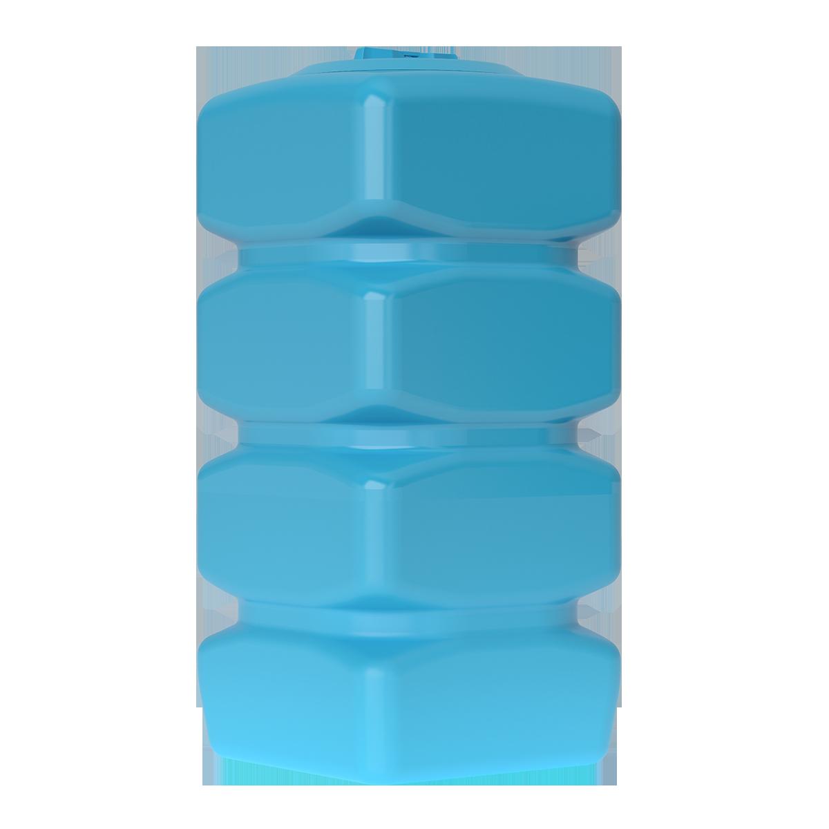 Бак для воды прямоугольный синий Quadro W 750 с поплавком - фото