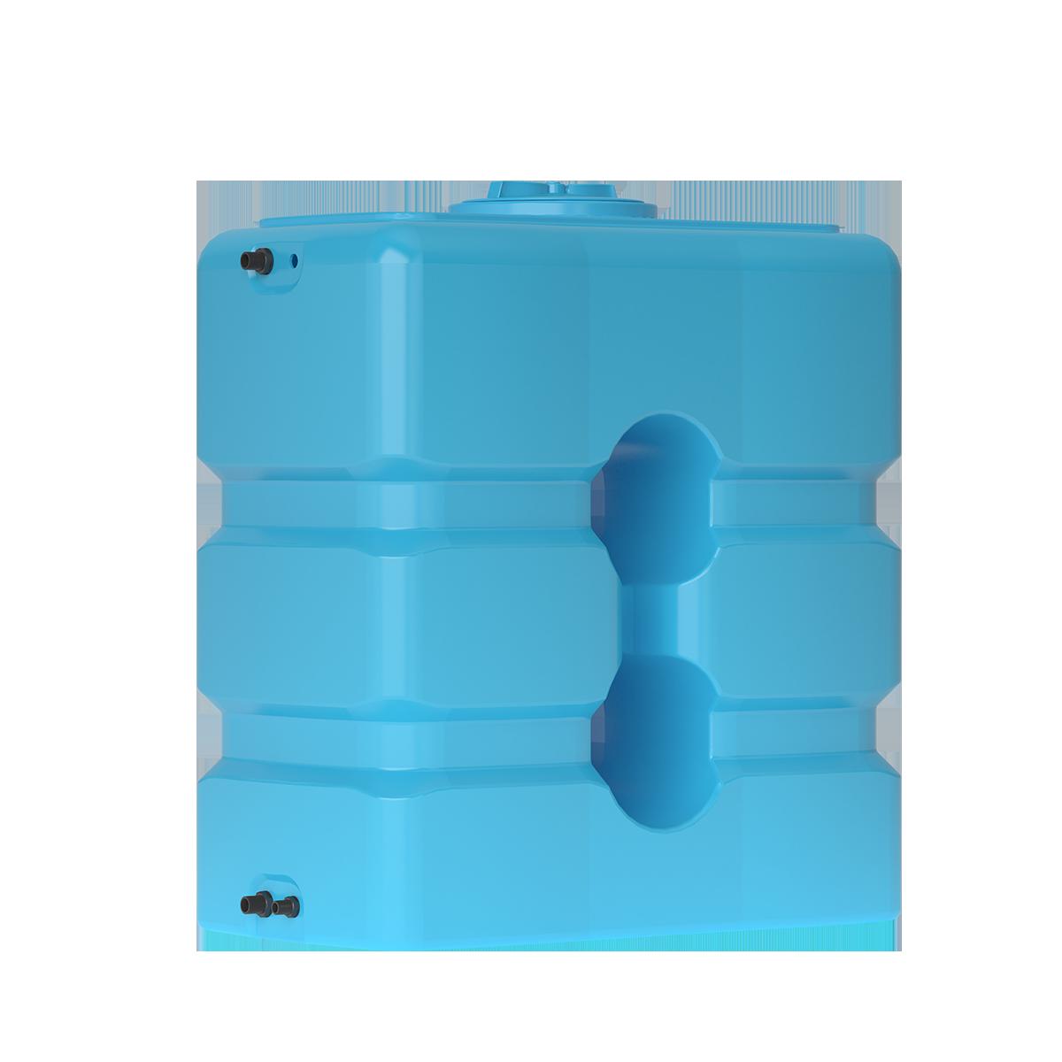 Бак для воды прямоугольный синий АТP 1000 с поплавком