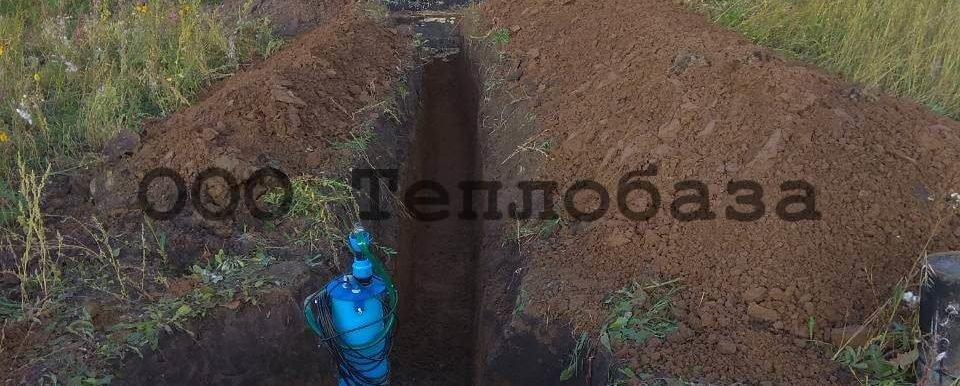 трасса от кессона для водоснабжения