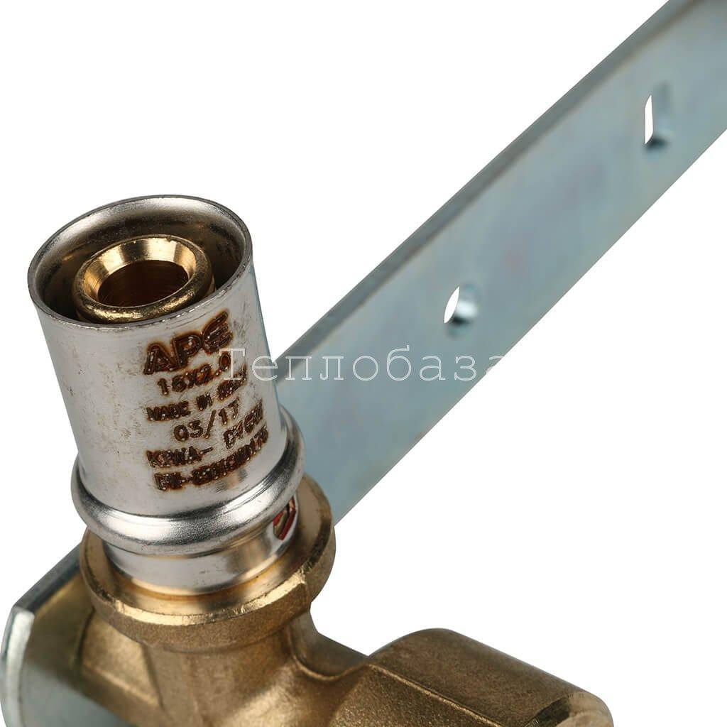 Пресс угольник двойной комбинированный 16 х 1/2 вр (планка для смесителя)