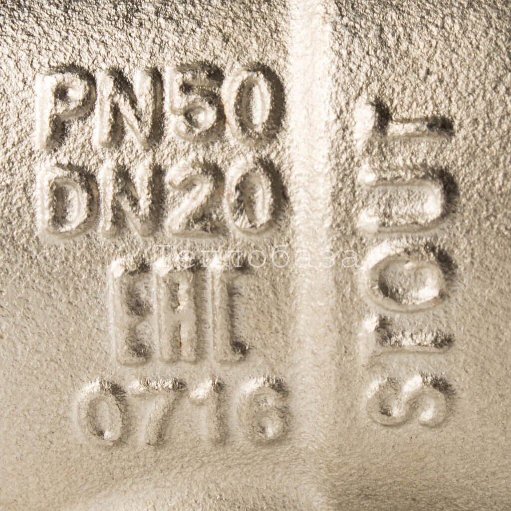 Кран шаровой полнопроходной угловой, ВР/НР, ручка бабочка 3/4, американка