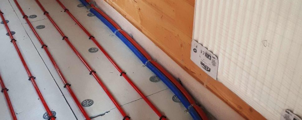 трубы пола и радиторов в бане