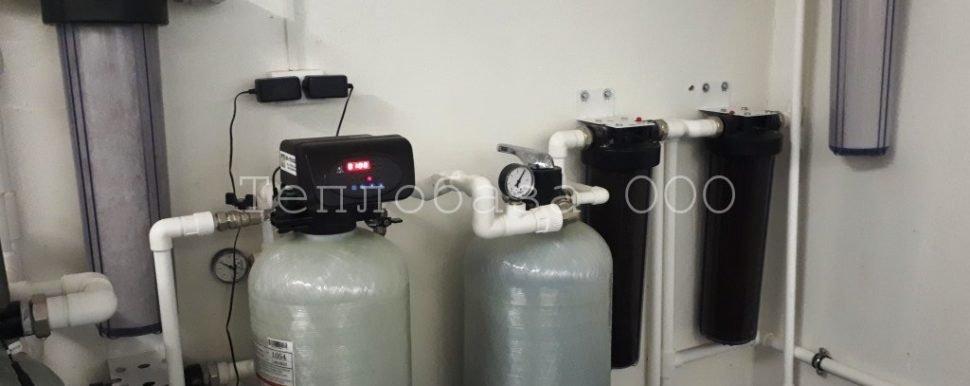 автоматические клапаны на системе очистки воды