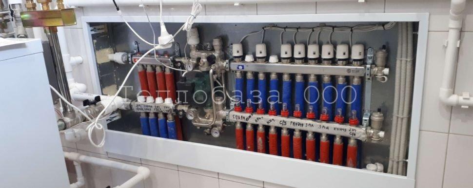 коллектор с расходомерами на отоплении