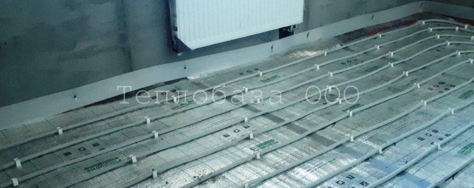 металлопластиковая труба для теплого пола уложенная на теплоизоляцию