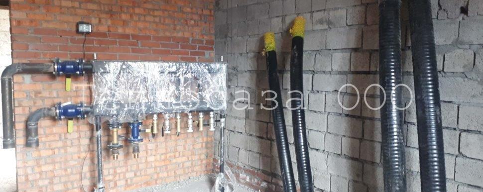 монтаж отопления в антипино, трубы в теплоизоляции