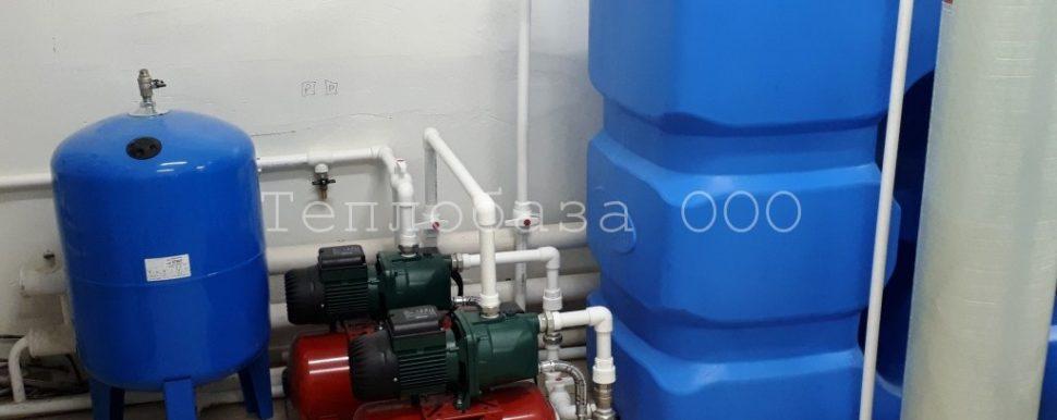 насосная станция DAB с накопительным баком для воды
