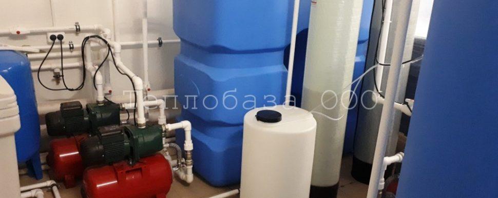 система водоочистки на заводе по изготовлению бутилированной воды