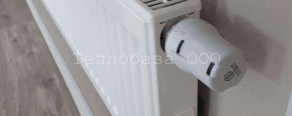 термостатическая головка на радиаторе