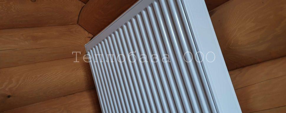 Стальной панельный радиатор в бане