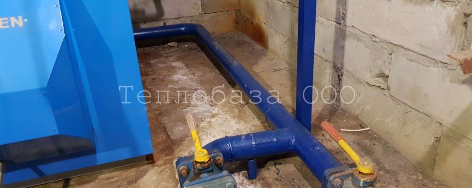 стальные трубы в обвязке котельной