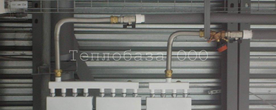Поключение инфракрасных панелей сильфонной подводкой