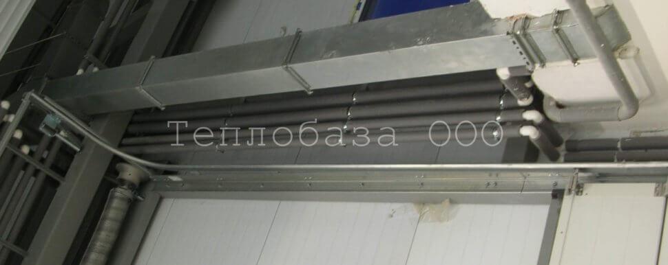 трубы отопления в теплоизоляции