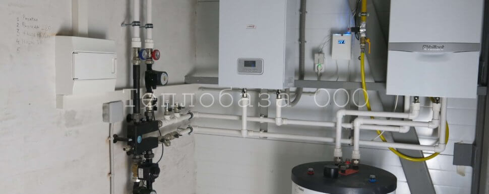 газовый настенный котел в паре с электрическим