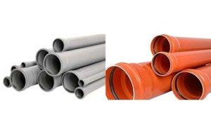 Трубы наружние канализационные и серые Пвх