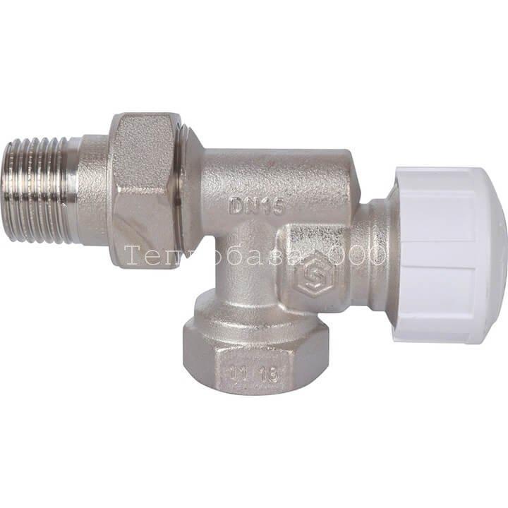 Вентиль термостатический угловой с горизонтальной буксой 1/2 STOUT