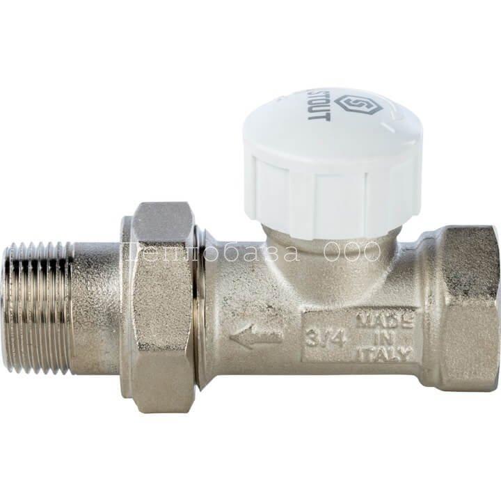 Вентиль термостатический  прямой  3/4 STOUT