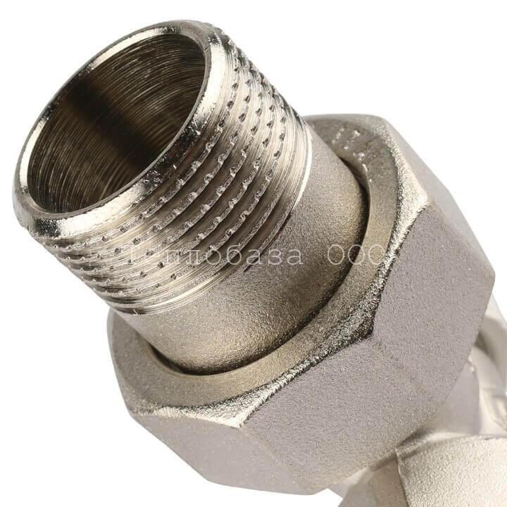 Вентиль запорный угловой 3/4 STOUT