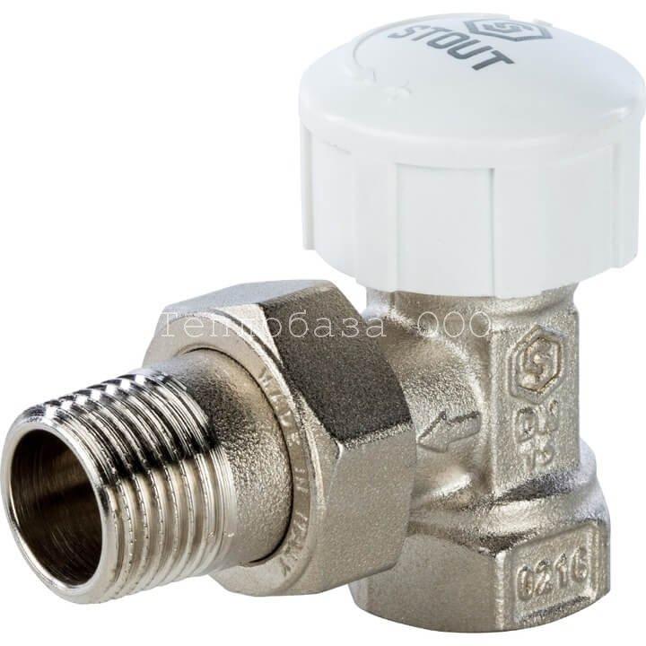 Вентиль термостатический угловой 1/2 STOUT