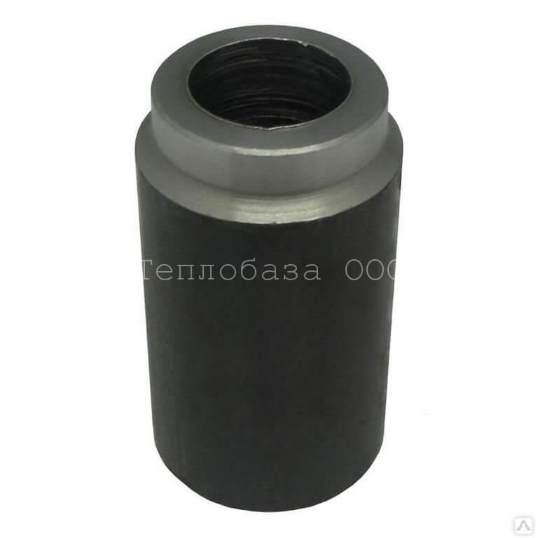 Бобышка БП2у-А0.1 L50 (Ст) под приварку - внутр. М20*1,5 Физтех